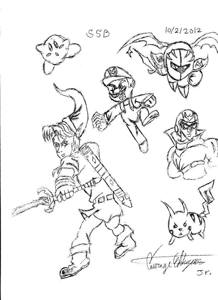 super smash bros brawl coloring pages super smash bros bralw wii free colouring pages