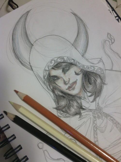 Umbra sketch by FoxFirePheonix