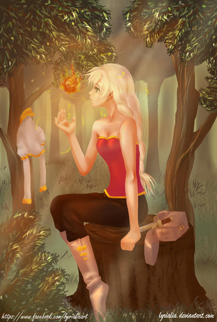 Sairi And The Fireelemental by Lyrialia
