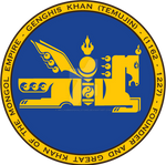 Genghis Khan / Mongol Symbol Seal Blue and Gold
