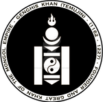 Genghis Khan - Mongol Black n White Seal