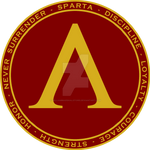 Sparta Shield Maroon and Gold Seal