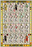 Military Orders Knights and Arms Poster