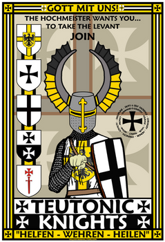 Teutonic Knights Recruitment Poster