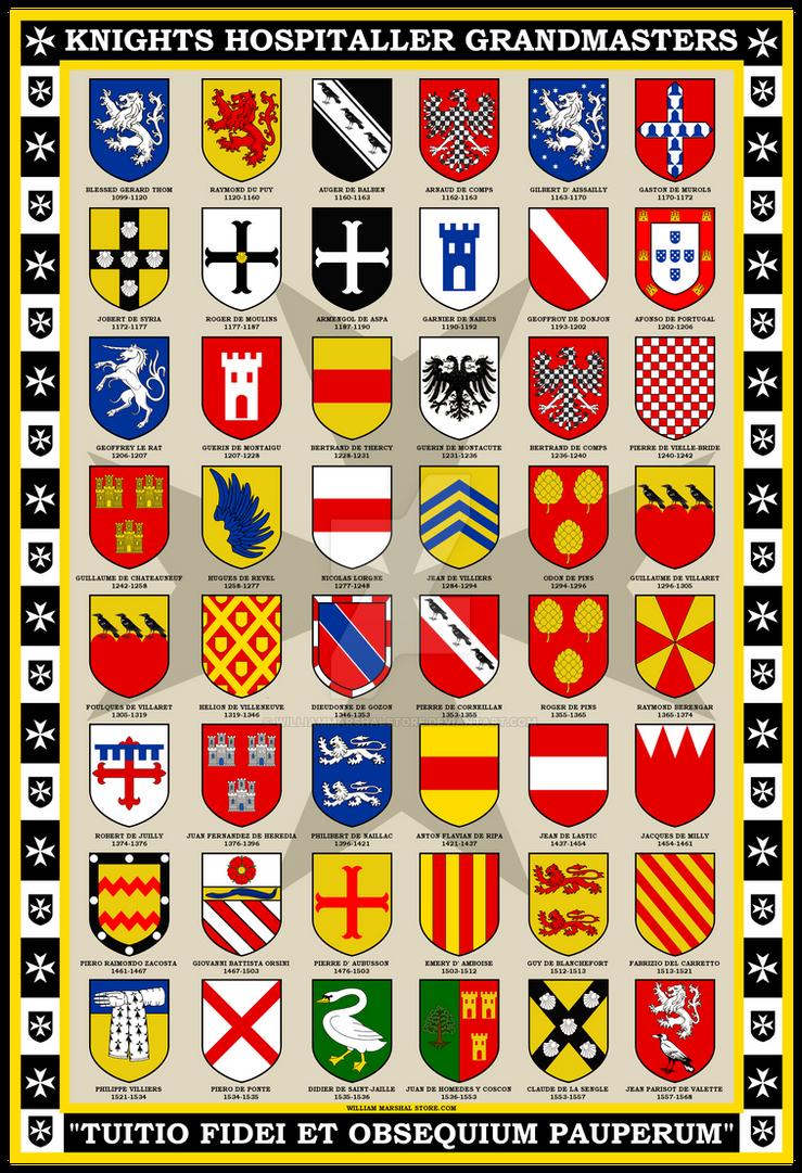 Knights Hospitaller Grandmasters 13x19 Poster by williammarshalstore