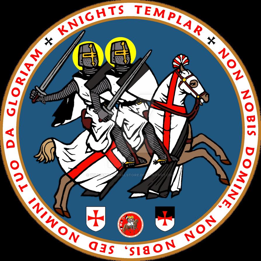 Knights Templar Official Seal V3 Blue by williammarshalstore