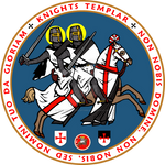 Knights Templar Official Seal V3 Blue