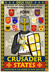 Crusader States Recruitment Poster by williammarshalstore
