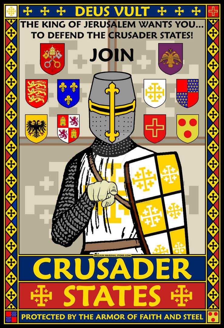 Crusader States Recruitment Poster by williammarshalstore