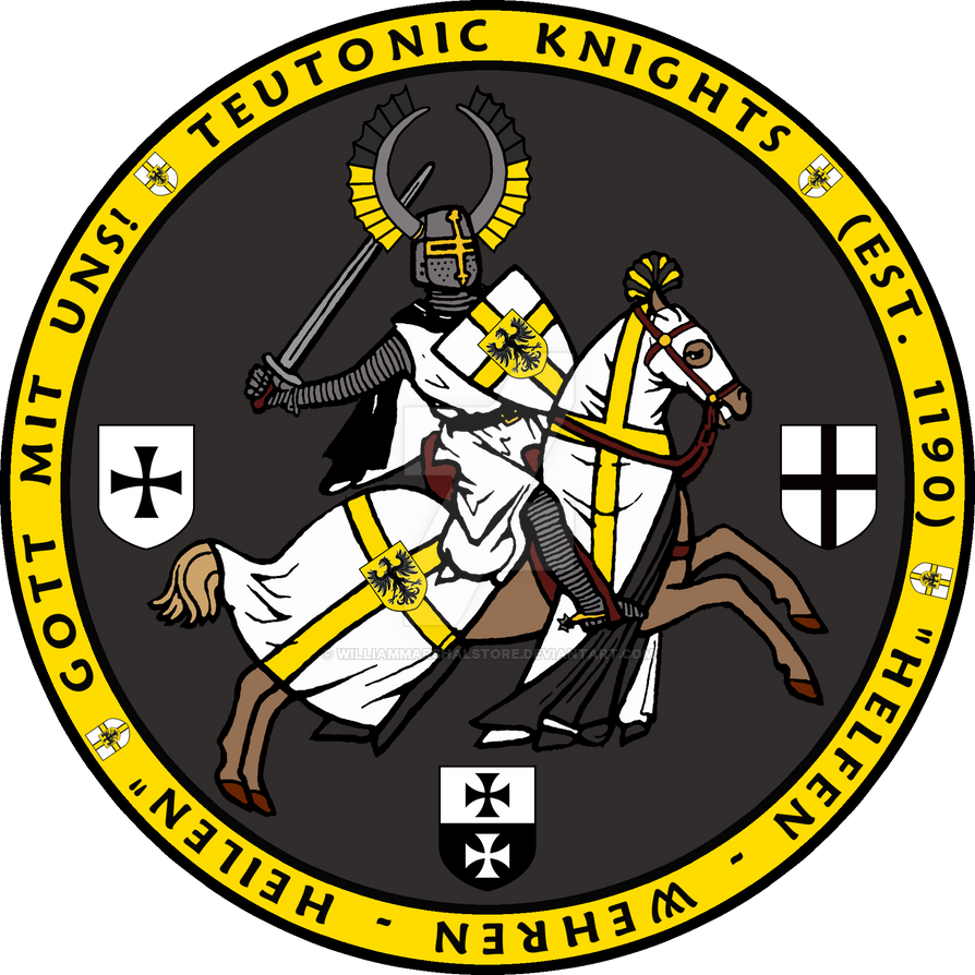 Teutonic Knights Charging Seal (image for T-shirt) by williammarshalstore
