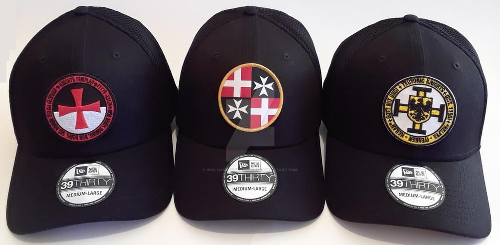 Templar, Hospitaller, Teutonic Knight Patch Hats by williammarshalstore