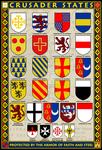 Crusader States 13x19 Coat of Arms Poster
