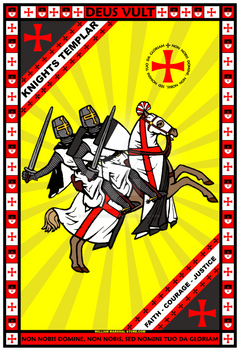 Knights Templar Charging 13x19 Poster