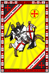 Knights Templar Charging 13x19 Poster