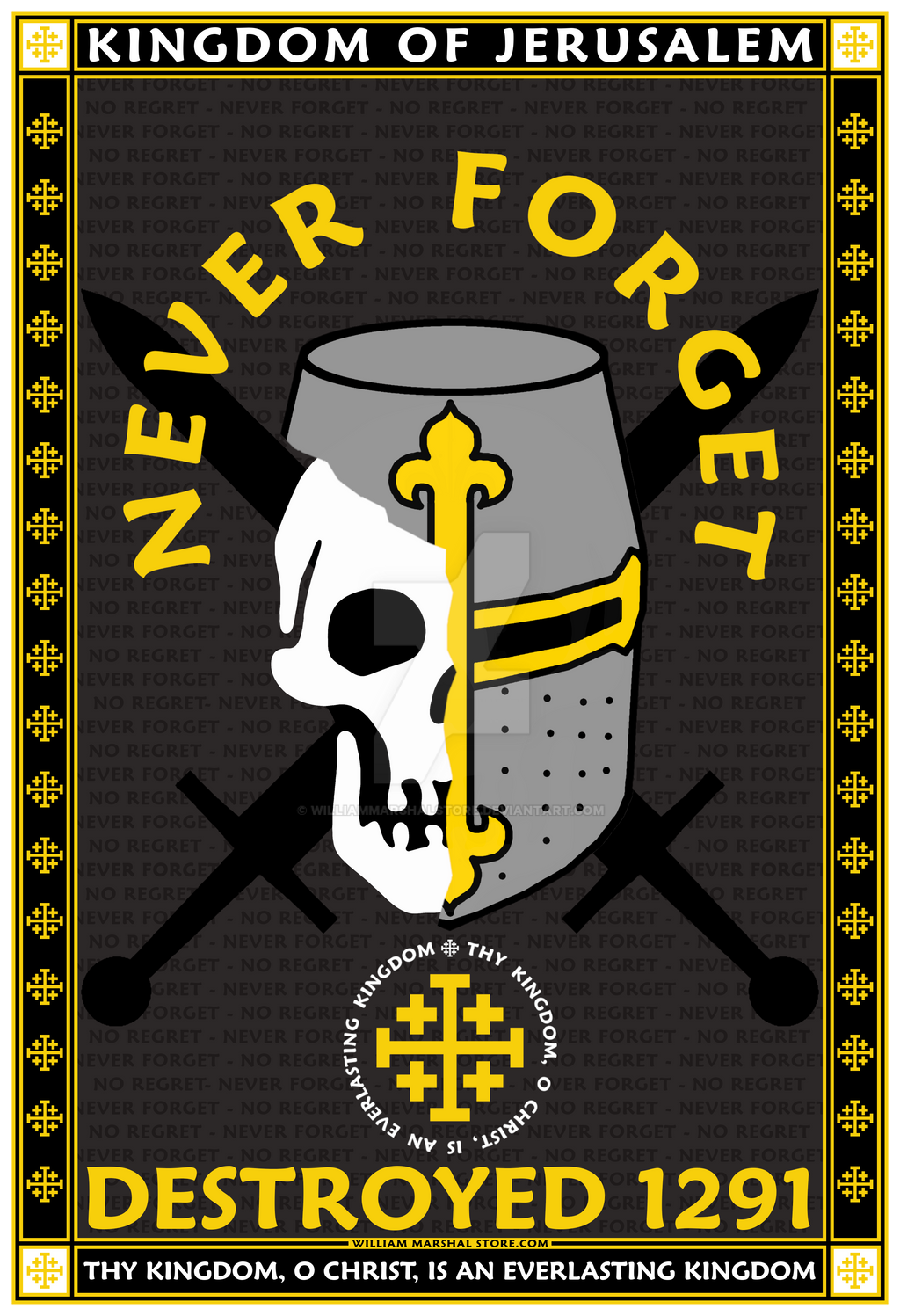 KINGDOM OF JERUSALEM - NEVER FORGET 13X19 POSTER
