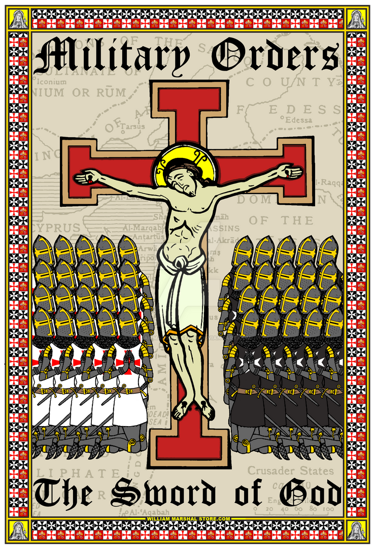 Jesus - Military Orders - Sword of God Poster