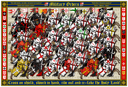 Charge of the Military Orders 13x19 Poster