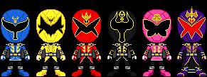 Shinpi Sentai Rairyuuger by TerranMarine117