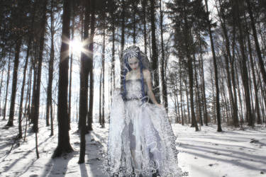 White Lady in the woods