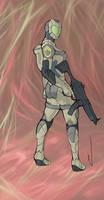 Starcraft Ghost Female wip by PaTXiNaKi