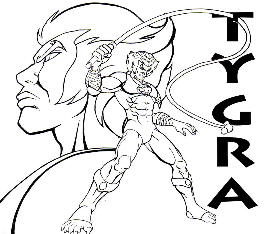 thundercat tygra by cavalierstylez - Thunder Cats Coloring Book Pages