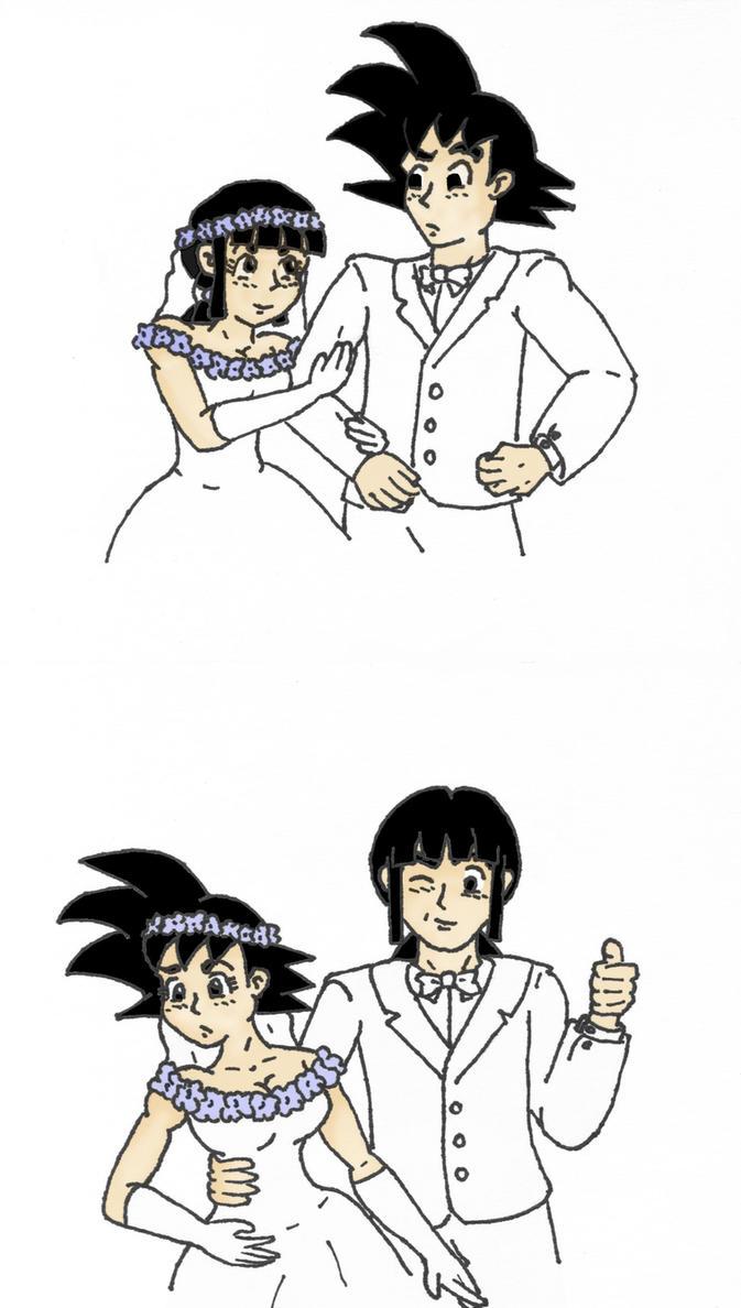 Goku and ChiChi\'s Wedding by starrdust411 on DeviantArt