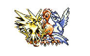 Articuno, Zapdos, and Moltres together by KeepingPokemonEpic