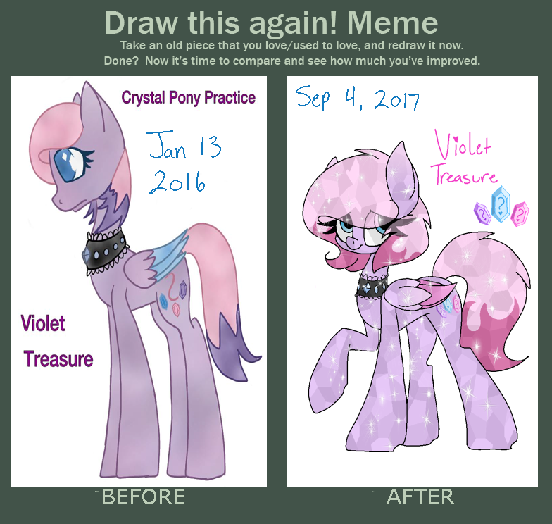 Draw This Again: Violet Treasure by SpaazleDazzle