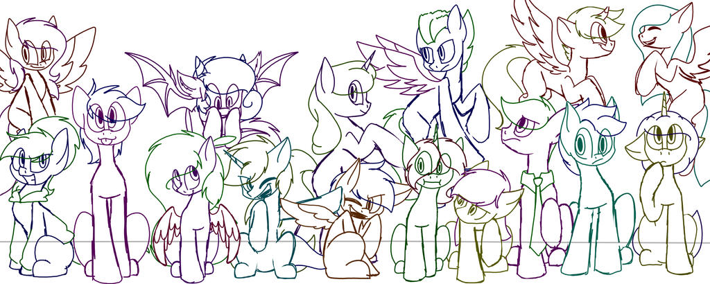 Group Picture 2018! (WIP) by SpaazleDazzle