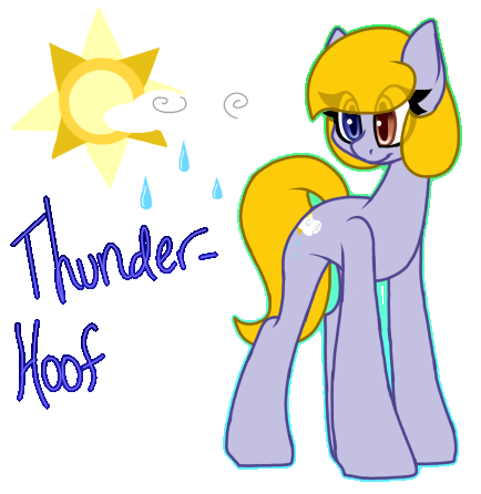 ThunderHoof by SpaazleDazzle