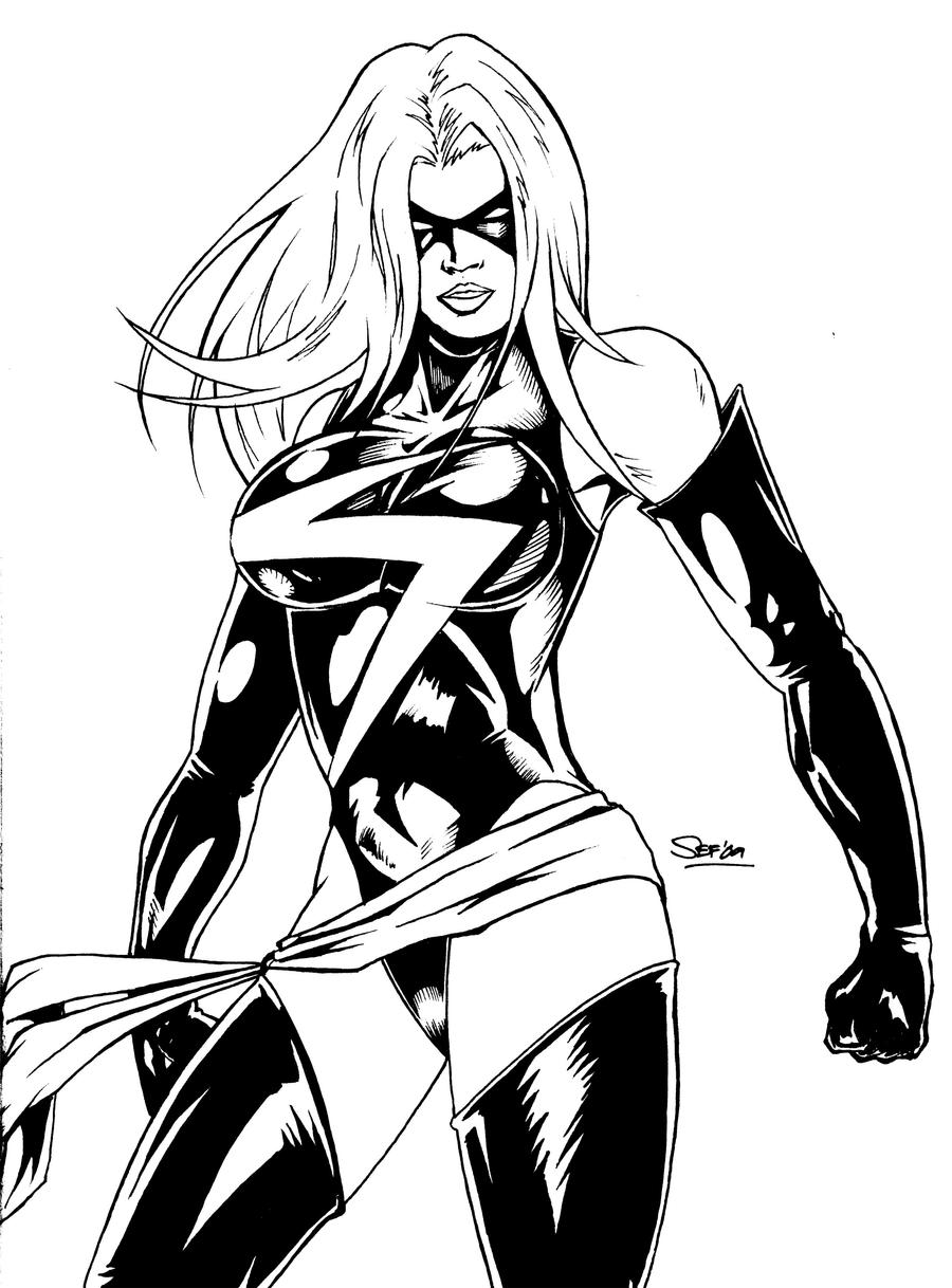 Line Design Art With Mr E : Ms marvel line art by separino on deviantart