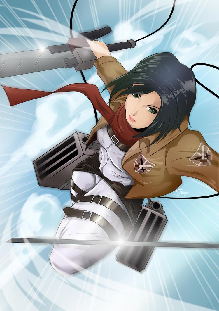 Mikasa Ackerman by separino