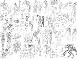 Sketch Dump 2 by CrimsonGear