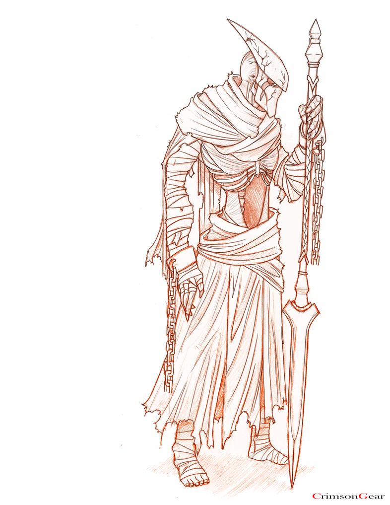 sketch - ancient lance by CrimsonGear