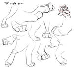 TLK style paws