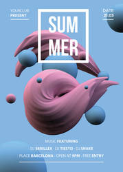 Geometry-Summer-Flyer by BestFlyerDesign