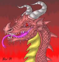 dragon profile-digital work by dragonbex