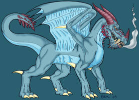 odd looking dragon-coloured by dragonbex