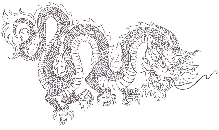 chinese dragon tattoo design by dragonbex