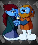 Smurf Ned and Smurf Caitlyn
