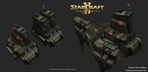 Starcraft2: Mobius Corp Tower Buildings by 3dchae