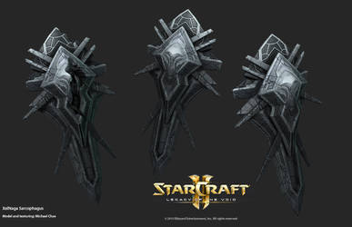 Starcraft2: XelNaga - Sarcophagus by 3dchae