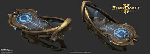 Starcraft2: Aiur Landing Deck by 3dchae