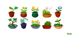 Flower pot set by YuukiMokuya