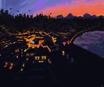 Mushroom city by YuukiMokuya