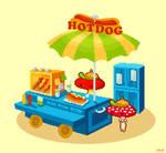 Hotdog wagon by YuukiMokuya