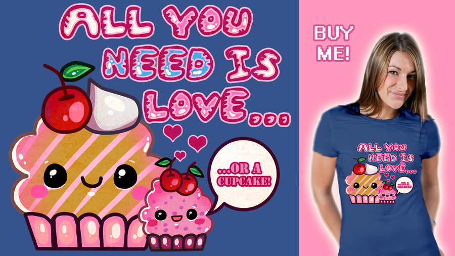 All You Need Is Love...Or A Cupcake! by aishiteru-zutto