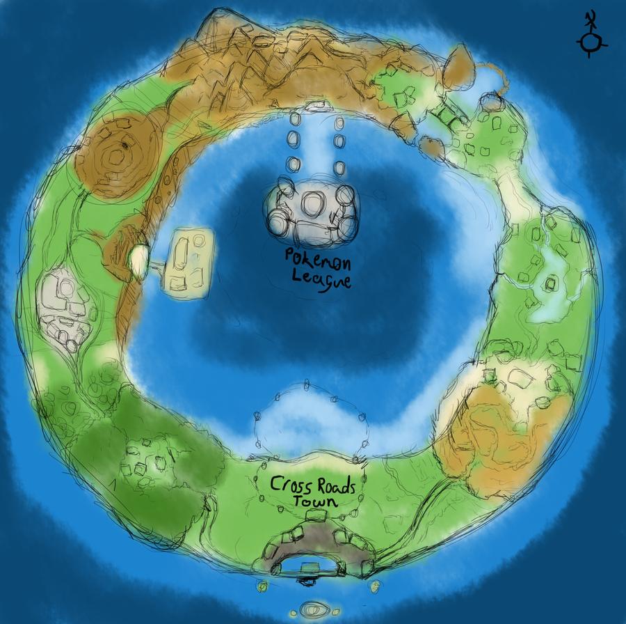 Pokemon World Map All Regions