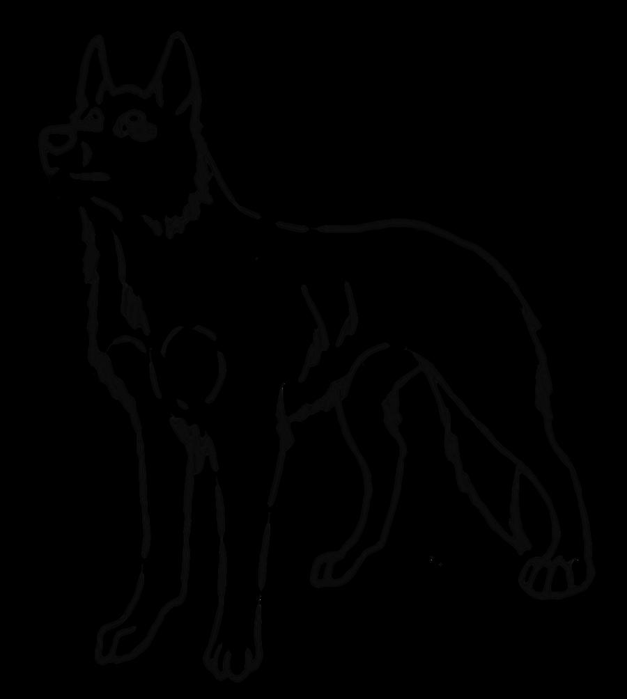 Line Art Dog : Dog lineart i by kibafreewolf on deviantart