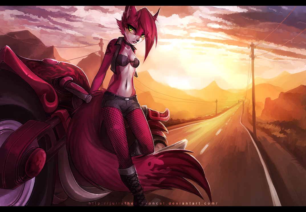 .: Road To The Sunset :. by JuliaTheDragonCat